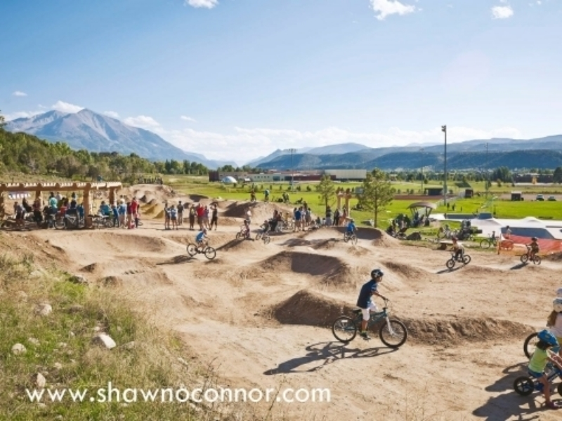 Pumptrack built by DirtSculpt in 2014 North Face Bike Park, Town of Carbondale, CO Photo Credit: Shawn Connor