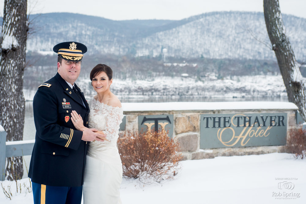 Thayer Hotel Beautiful/ Elegant Winter Wedding