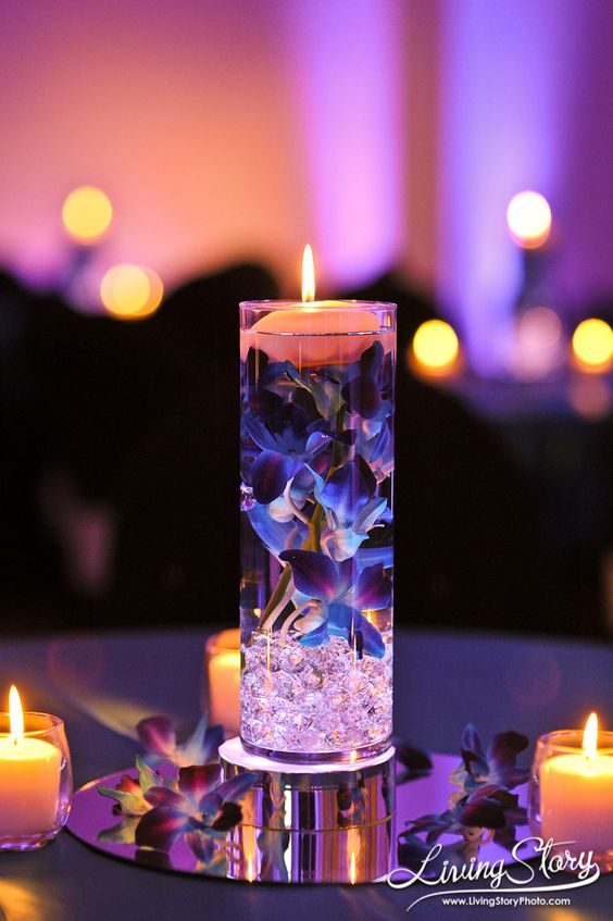 Romantic Floating Centerpieces Bisou Weddings And Events