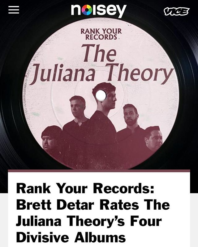 I didn't really mince words talking with @noisey about how I'd rank @thejulianatheory's albums.