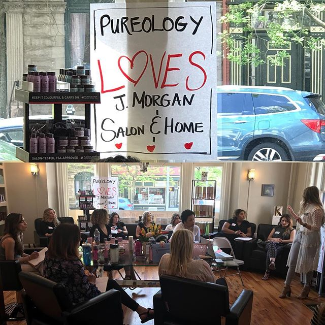 Education is key! I'd say 4 different education events in 72 hours is pretty good! #pureologyus #pureologylove #pureology #haireducation