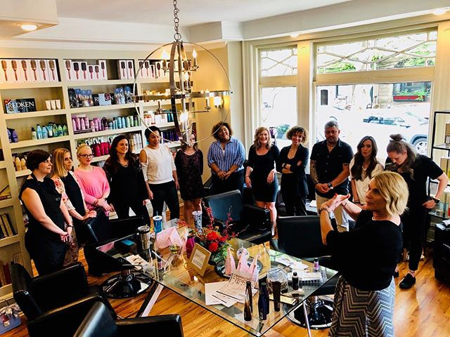 Education! Education! Education! Redken sent in one of our favorites for a launch and refresher class today! @dpalacios95 @redken #saloneducation #redkencolor #jmorgansalon #notyouraveragesalon