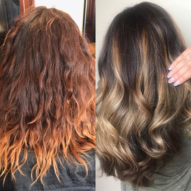 Color correction and hand painting by Jackie. #thisiswhatwedo #lehighvalleystylist #eastonpa #handpainting #colorcorrections #redken #kerastaseusa #purology @sciotto_jacqueline