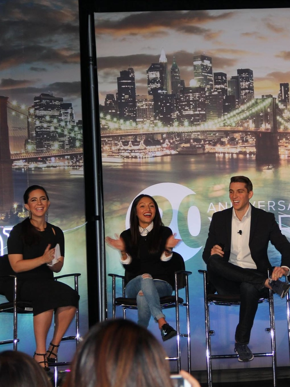 GiveBack Homes members Samantha DeBianchi, Caroline Pinal and Brett Hagler speaking at Inman Connect NY.