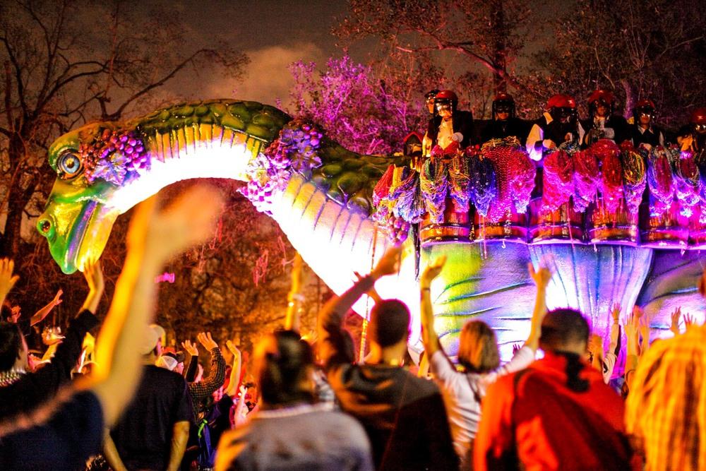 Bacchus, Mardi Gras. New Orleans