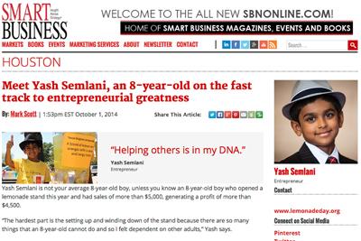 October 1, 2014: Smart Business Interview