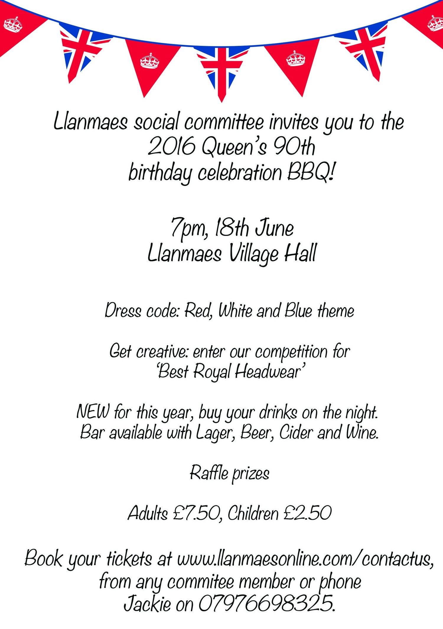 Llanmaes Queens 90th Birthday Celebration BBQ Online