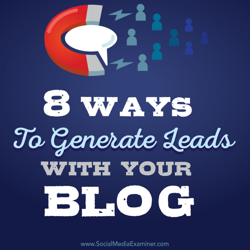 Read this article by Marcus Ho now :  http://bit.ly/1GZ77BQ   Is your blog generating leads for your business? Are you looking for ideas?  Offering a suitable and relevant reward in return for people's contact information is a great way to generate business leads.  Click here to discover  eight ways to generate leads with your blog :  http://bit.ly/1GZ77BQ   -Kim  #leadgeneration #socialmedia #blogging #smexaminer   https://plus.google.com/+AlejandroFranceschi/posts/2nsuugniSga