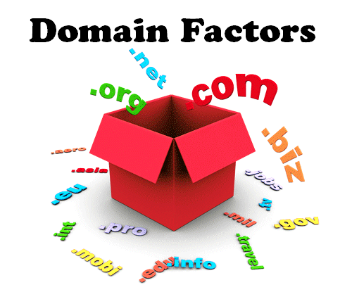 10 Major Domain Factors   1.	Domain Age  2.	Keyword Appears in Top Level Domain  3.	Keyword as First Word in Domain  4.	Domain Registration Length  5.	Keyword in Sub Domain Name  6.	Domain history  7.	Exact Match Domain  8.	Public Vs Private Who is  9.	Penalized Who is Owner  10.	Country TLD Extension  #Website #Domain #Google #SEOranking   https://plus.google.com/+AlejandroFranceschi/posts/W42sqzNNGGP