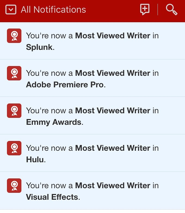 Thanks for upvoting me as most viewed #author #Quora for: #Splunk #TheEmmys #hulu #AdobePremiere #Adobe #VFXSociety ! https://plus.google.com/+AlejandroFranceschi/posts/2NQTPvVjZvS