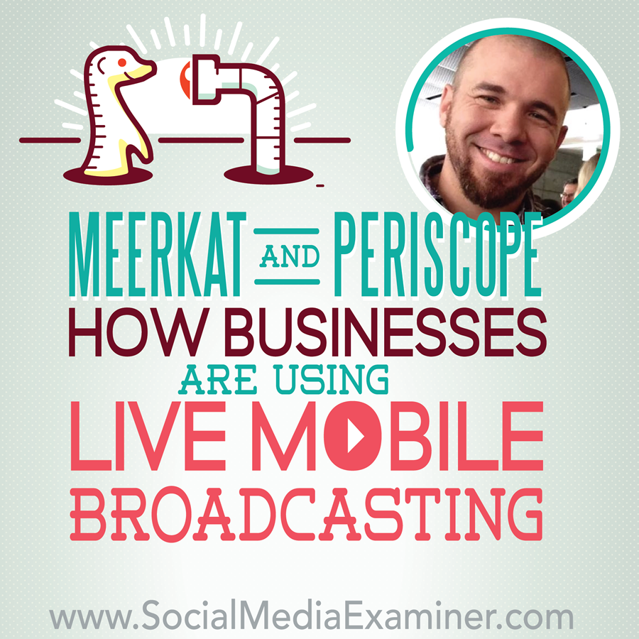 Read/listen now :  http://bit.ly/1L5jVXt    Are you interested in live mobile broadcasting?  Have you tried Meerkat or Periscope?  To learn about mobile broadcasting apps, Mike interviews Brian Fanzo.   Read/listen here :  http://bit.ly/1L5jVXt   -Kim  #podcastsworthhearing #smexaminer   https://plus.google.com/+AlejandroFranceschi/posts/2XNGyNyrARM