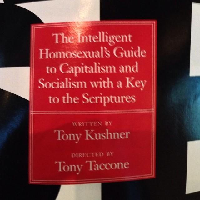 #TonyKushner #Play / on Instagram  http://ift.tt/1o2l5FG