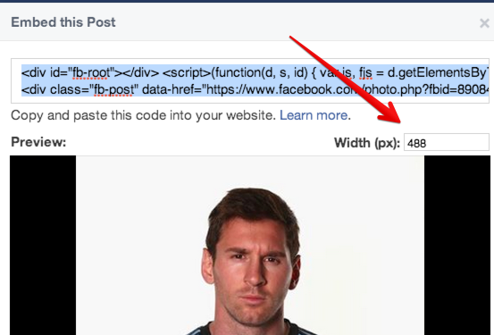 Facebook says it has updated its post embedding code to make it faster and more visual.   http://click-to-read-mo.re/p/7CUb/53413f12