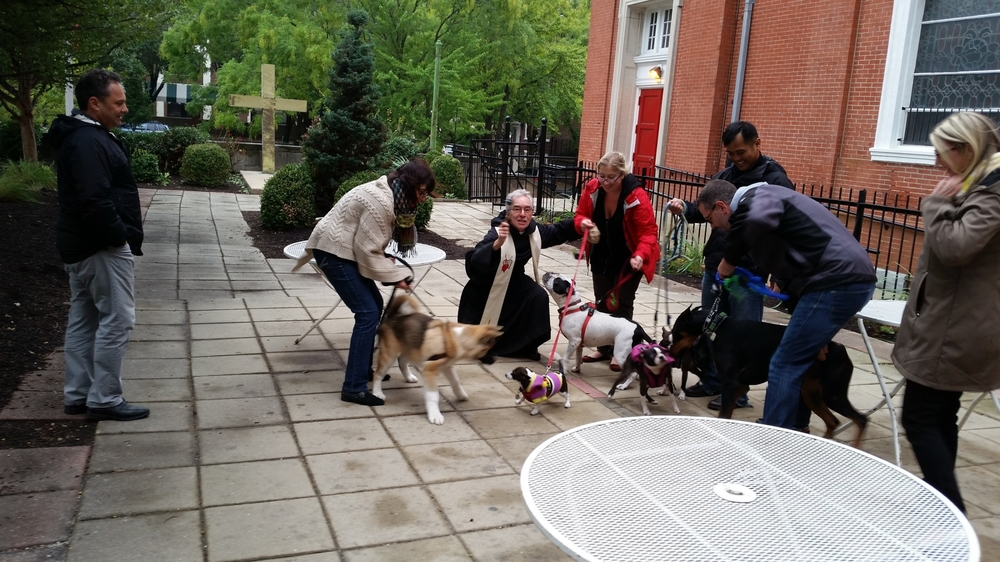 Father Paul Morrissey, OSA Blessing the Animals.