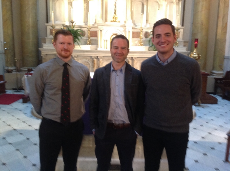 MATT CURRIER (CATECHUMEN), JERR RIGGS (CATECHUMEN), ZAC LOWDER (CANDIDATE)