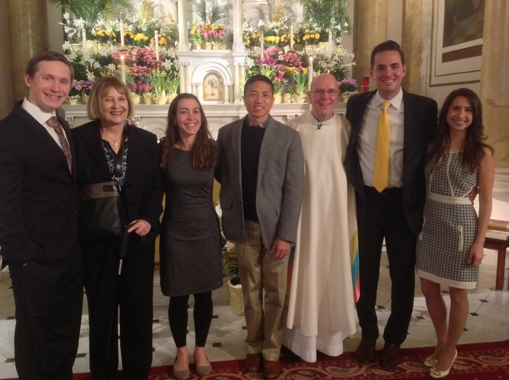Alexander Puhalla (Donna Puhalla, Sponsor), Gavin Villacorta (Joanna Bowen, Sponsor), Fr. Bill, Zachary Lowder (Cinthya Yabar, Sponsor)