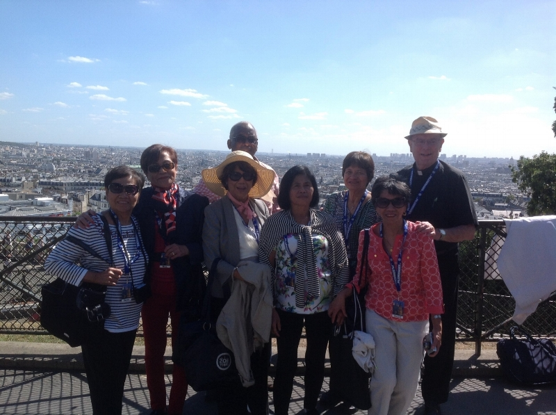 Parish Group Overlooking the City of Paris, France.