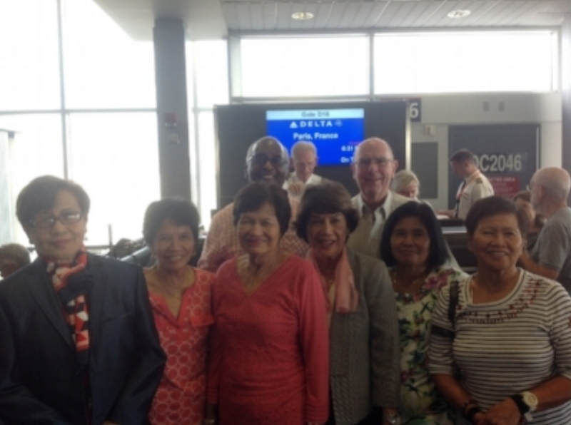Parish Group on their way to the Jubilee Year of Mercy Pilgrimage to Paris and Rome