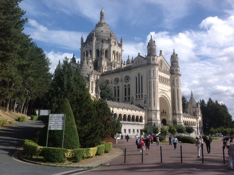 The Basilica in Lisieux built in honor of St. Therese