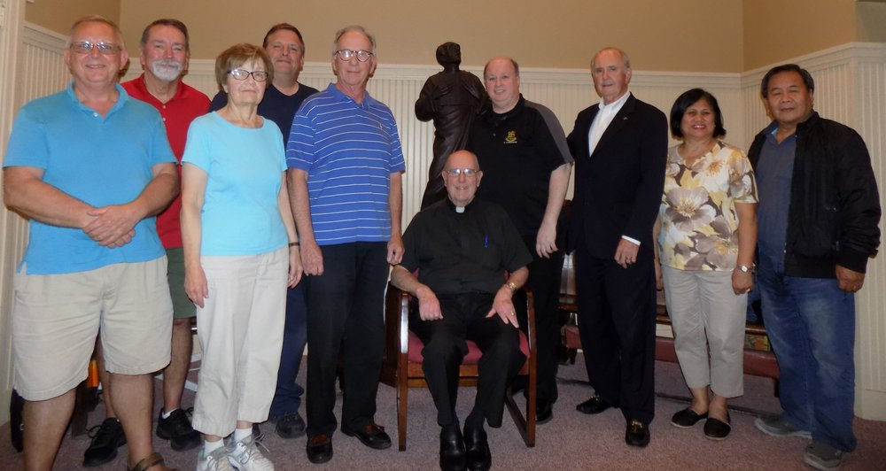 (Click Picture to Enlarge)   Members: Jerry Lorenz, Rosemary Lorenz, Gerry Rigby, Bob Schuck, Ruth Luyun, Ferdie Luyun, Fr. Bill Waters, OSA, Pastor, Staff Ex Officio: Jacob Marquart, OFS, Tim Babbage and Bob Zigmund