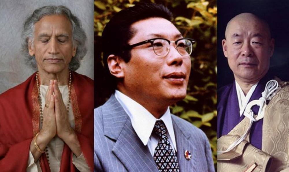 Amrit Desai, Chögyam Trungpa, Eido Shimano.