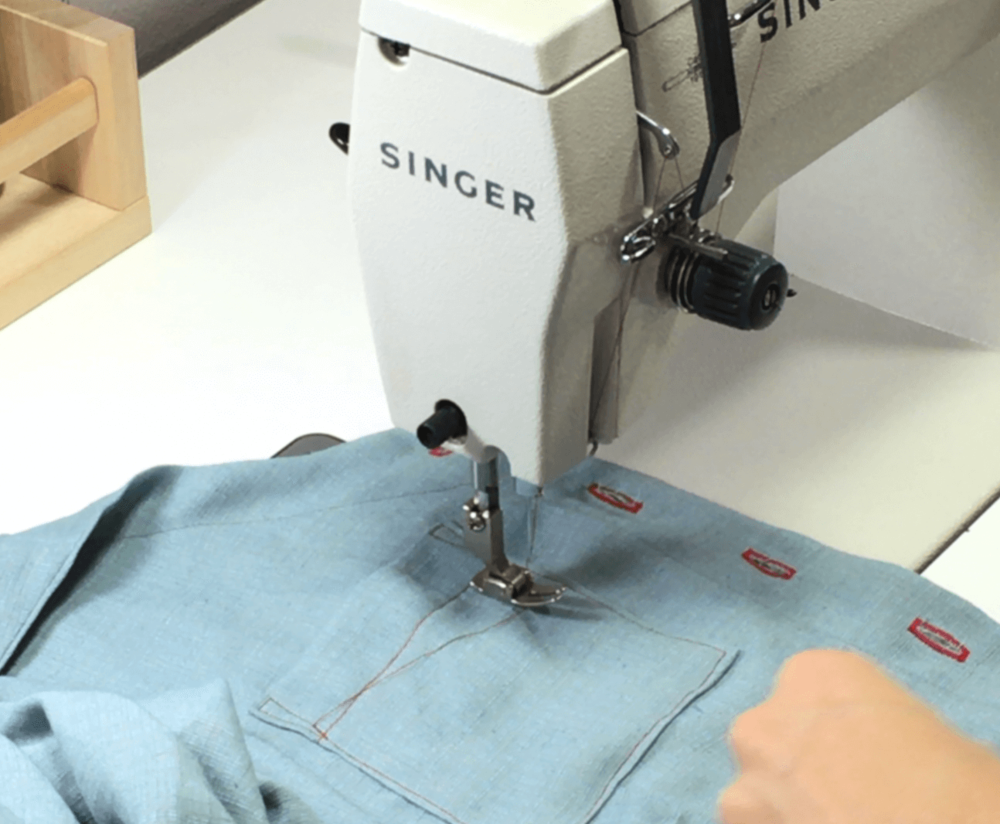 In today's video and written tutorial, I will teach you how to place and sew your pockets on straight. Click through to watch and learn!