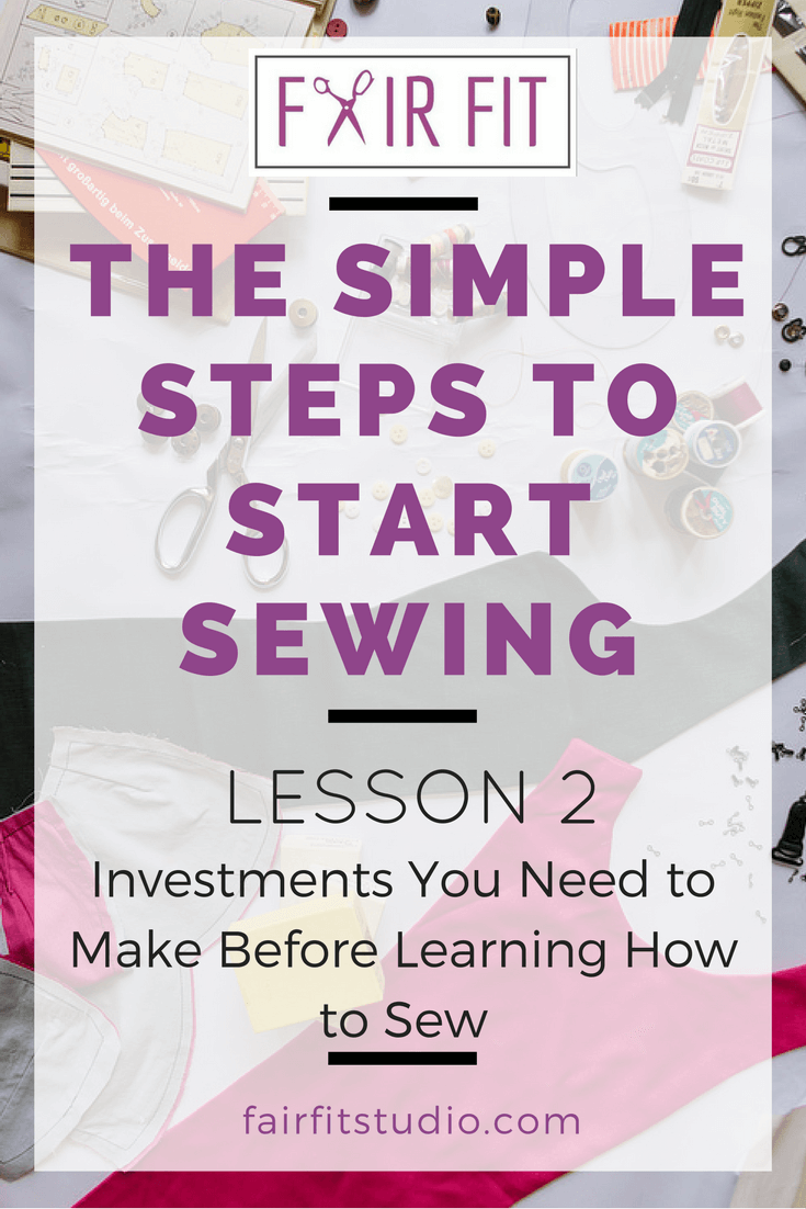 Find out the 3 critical paths to sewing success. This blog post + free workbook walks you through the investments involved to learn how to sew clothes you'll love! Download the FREE WORKBOOK and get started today!