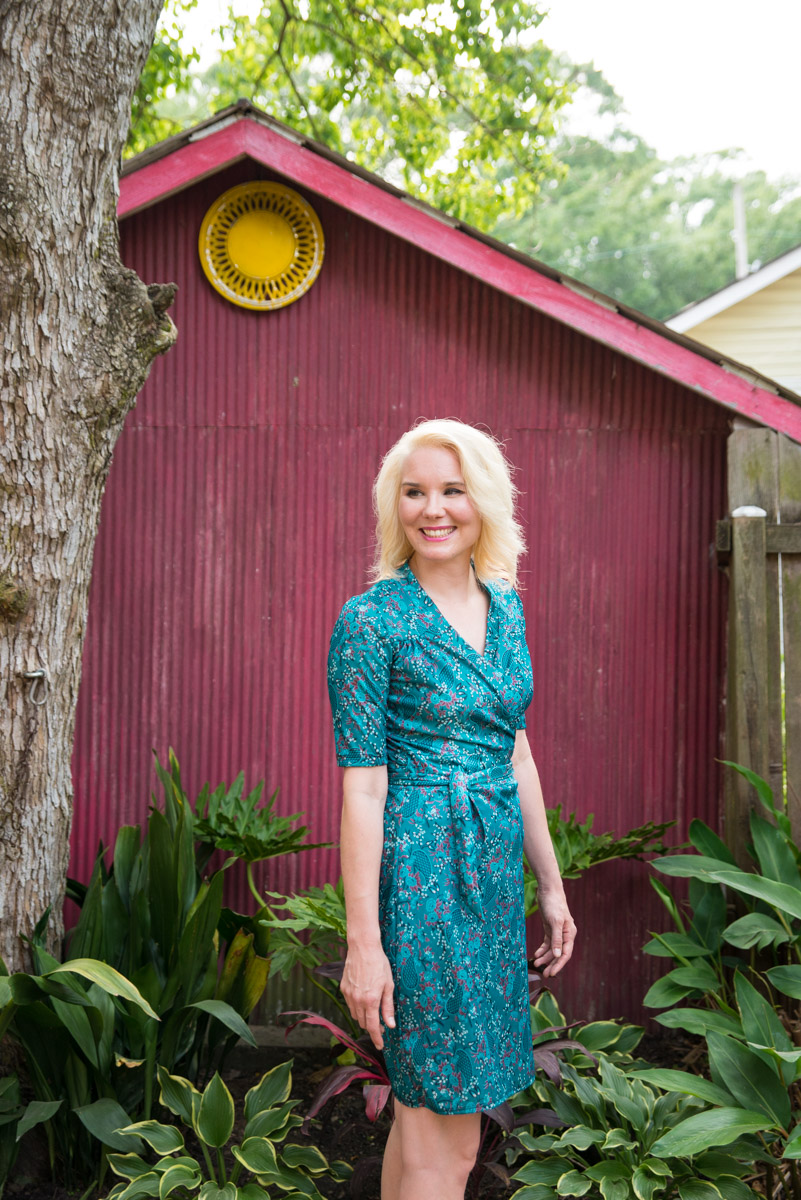 ME MADE MAY 2017 DAY 29 - MUSE PATTERNS GILLIAN WRAP DRESS