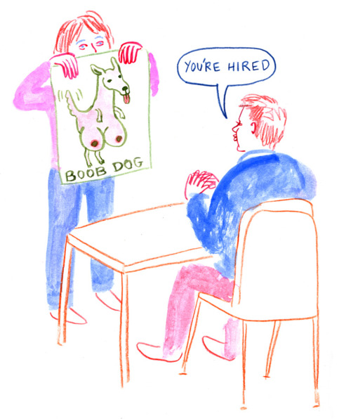 "Lisa Hanawalt applying for her job ""being a badass"""