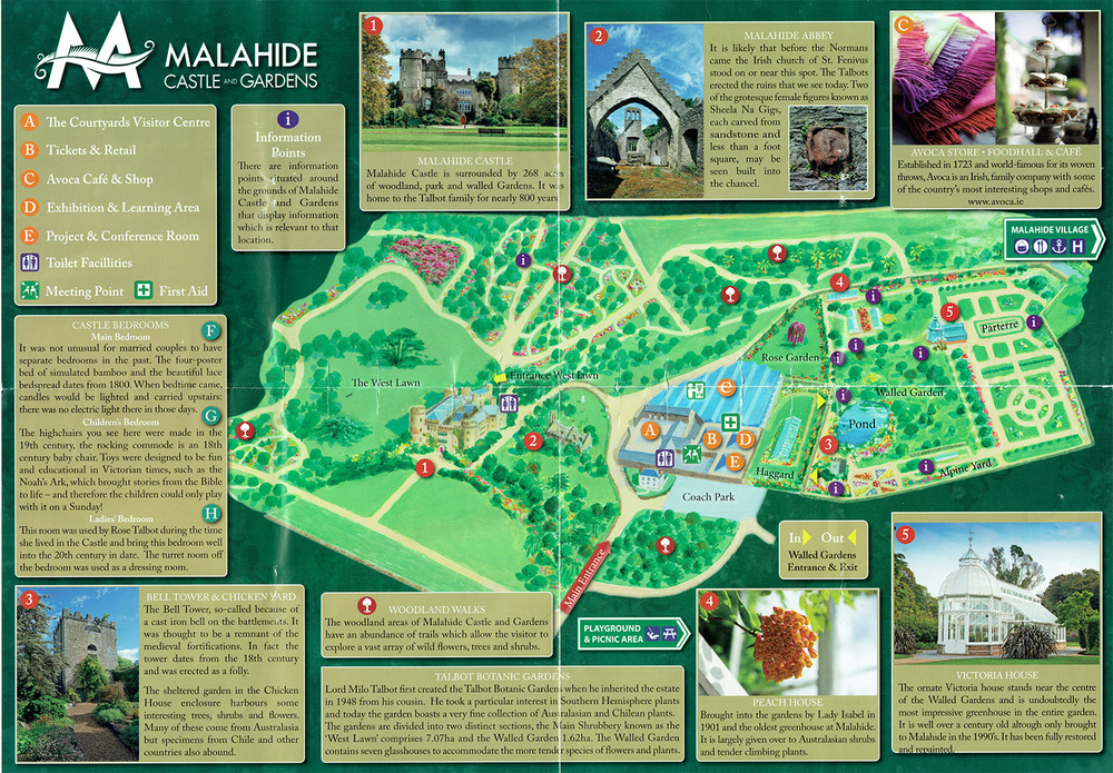 Map of Malahide Castle