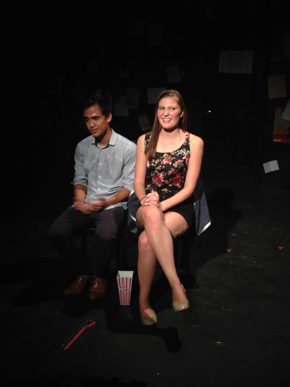 "Gabe Marquez and Emily Reineke singing ""First Date/Last Night"" from  Dogfight"