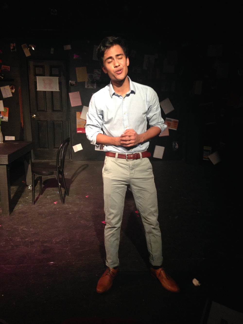 "Gabe Marquez during ""Serious"" from  Legally Blonde: The Musical"