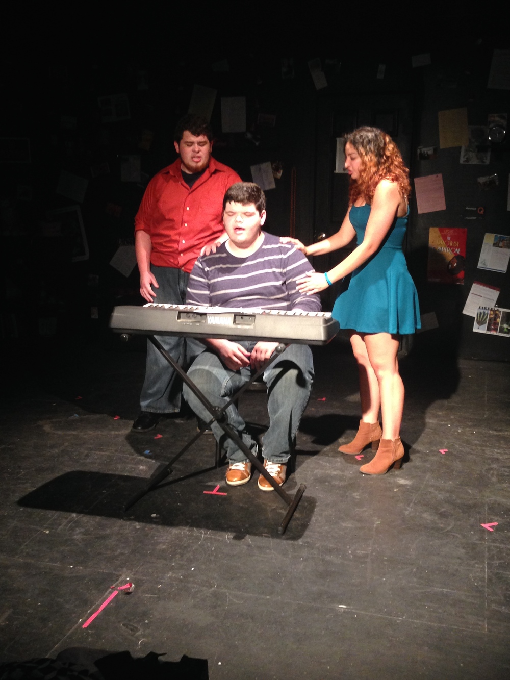 "Justin Luckenbaugh, Tyler Conroy, and Krystina Matos during ""Johnny Can't Decide"" from  Tick, Tick...Boom!"