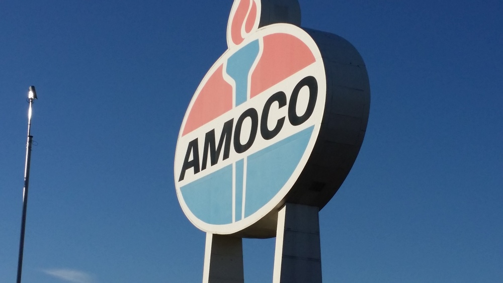 Amoco is no longer a company, but this symbol of Saint Louis rises above. It has been one mile from my house for almost 11 years. Some pieces of history are bigger than life.