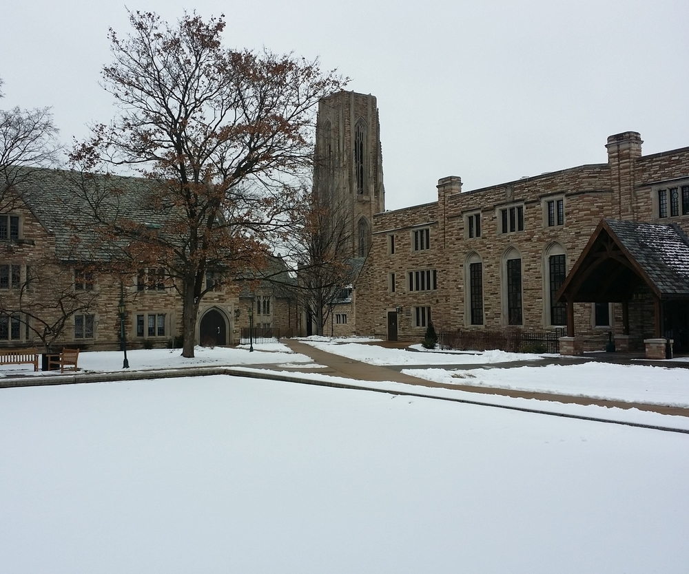 Concordia Seminary is just around the corner from my house and a great place to take in the winter. The silence of the day was incredibly loud.