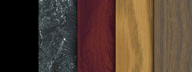 Black, Black Marble, Mahogany, Oak, Walnut