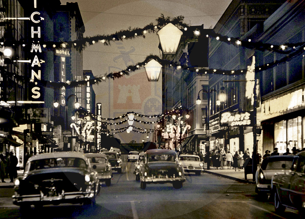 DOWNTOWN CHRISTMAS IN THE 50s