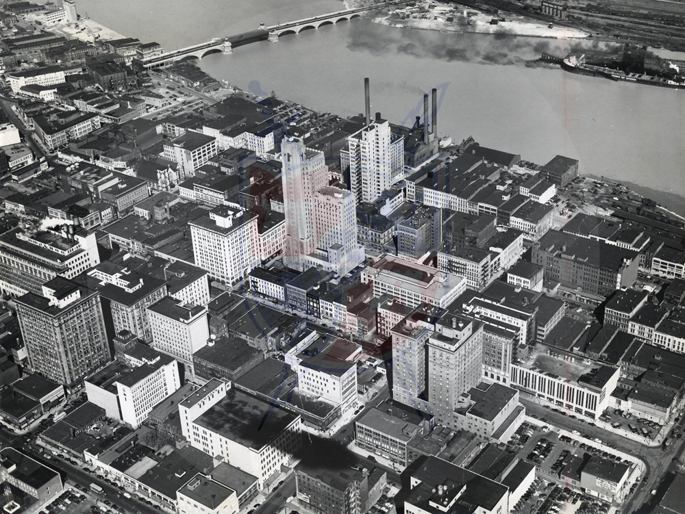 DOWNTOWN TOLEDO AERIAL, 1947