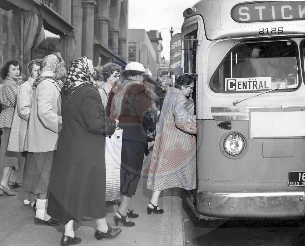 BUS RIDERS, 1954