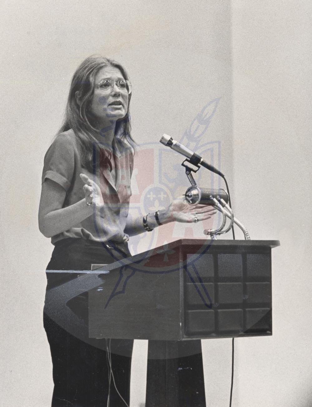 Gloria Steinem attacks ultra- conservatives. May 16, 1981