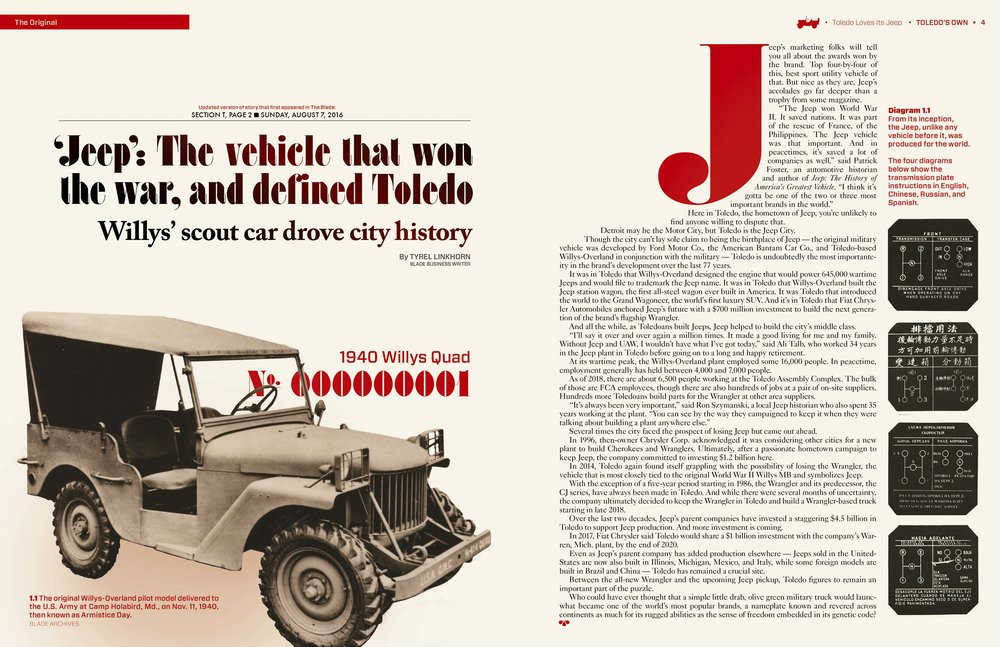 The first Jeep produced by Willys-Overland.