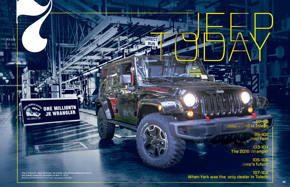 The 1,000,000th JK Wrangler rolling off the line in Toledo in 2013.