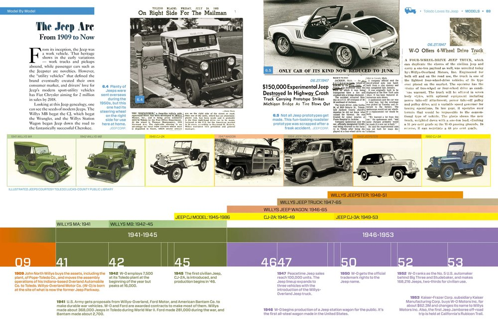 The Jeep model timeline shows Jeep's evolution from the turn of the century to today.