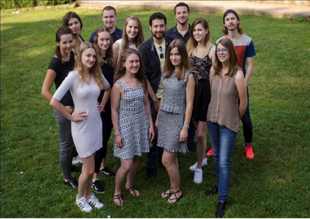The whole TU Dresden iGEM Team – A mix of international students that intend to make the scientific world aware of what we can do for our planet by just changing small things at work or even in our personal life.