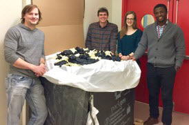 Over 400 pounds of gloves were collected more than 400 pounds of lab gloves from about 30 researchers in 10 MIT labs