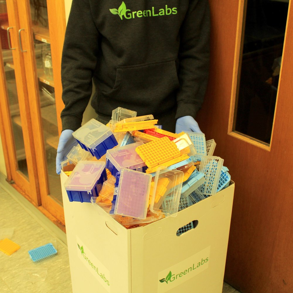 - Green Labs will recycle any Boston area lab tip box collections with mixes of any manufacturer!