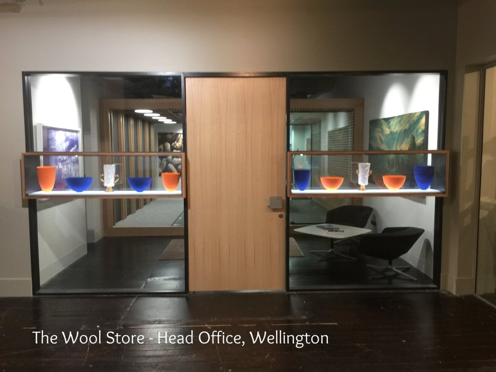 A CORPORATE HEAD OFFICE INSTALLATION- WELLINGTON, THE WOOL STORE