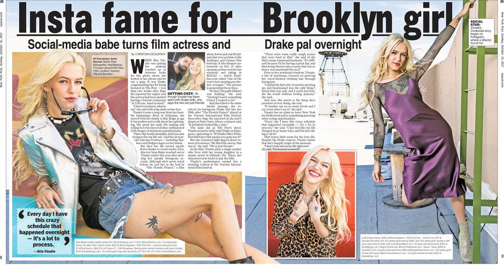 Actress Bria Vinaite, The Florida Project