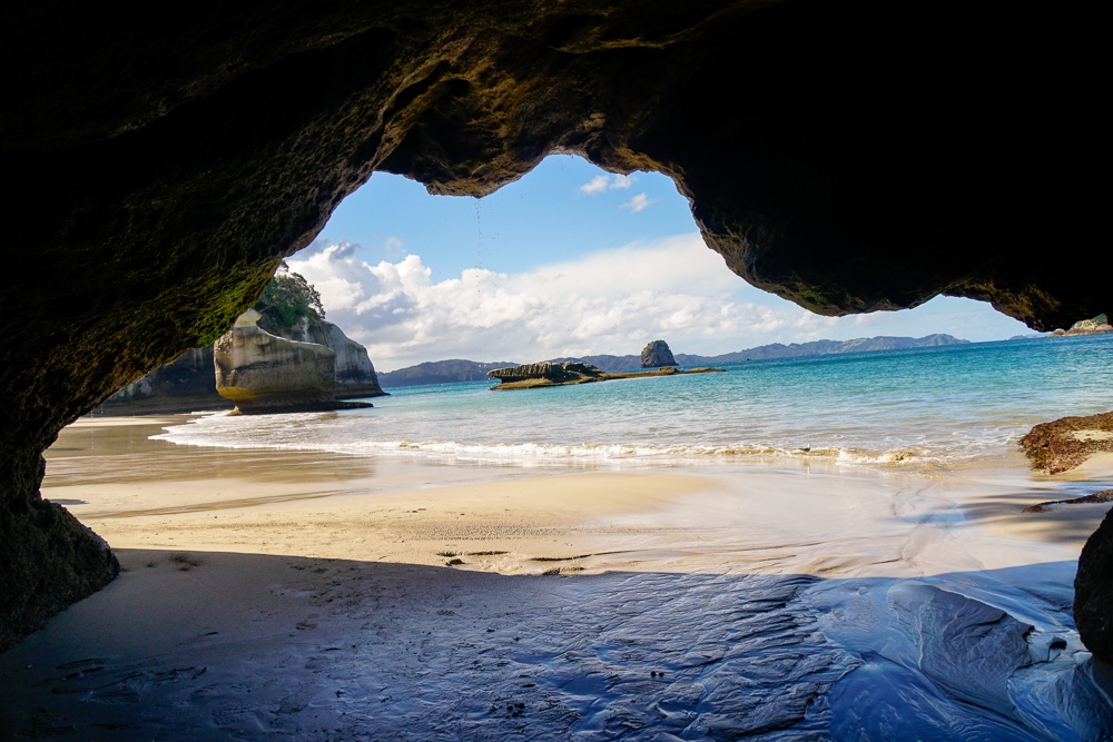 A cave at Cathedral Cove, Coromandel, North Island