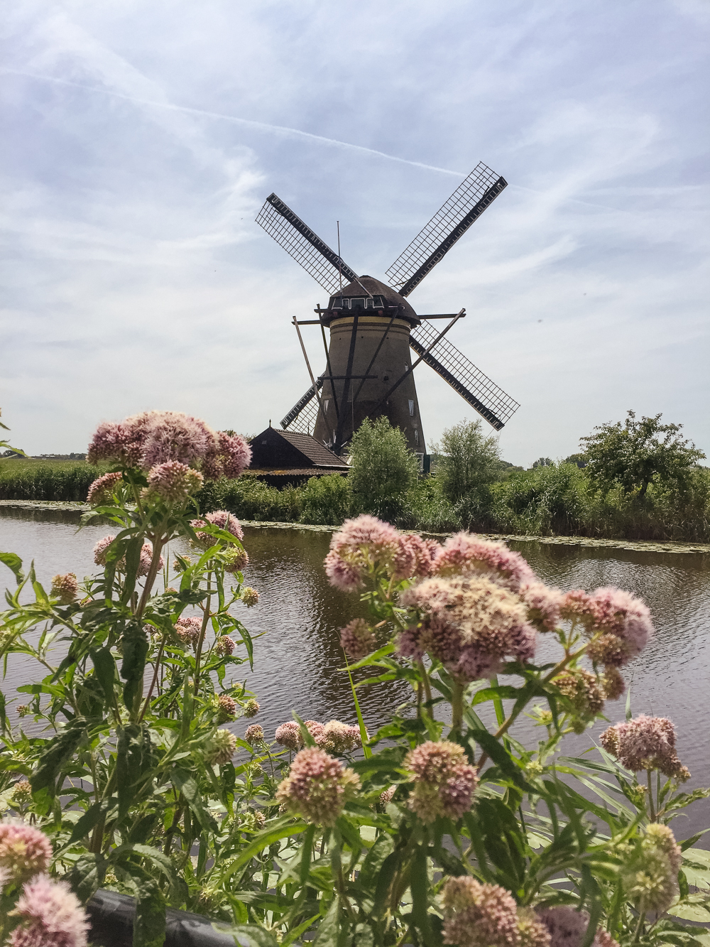 The windmills of Kinderdijk, Holland